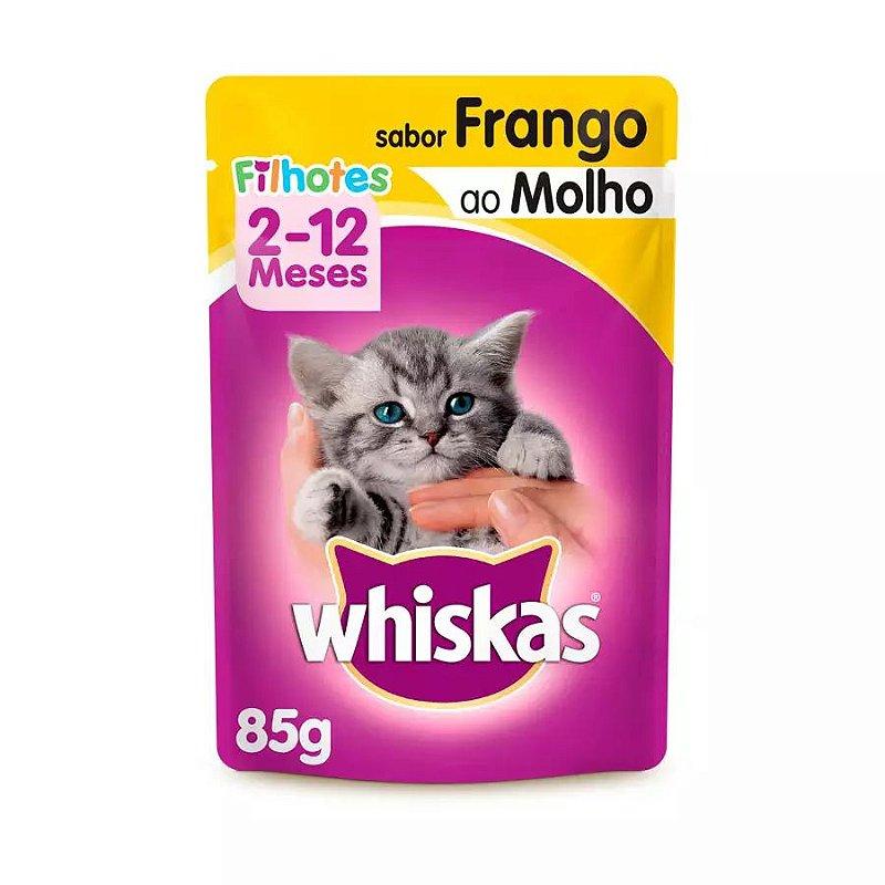 Ração Úmida Whiskas Sachê para Gatos Filhotes Sabor Frango ao Molho - 85g