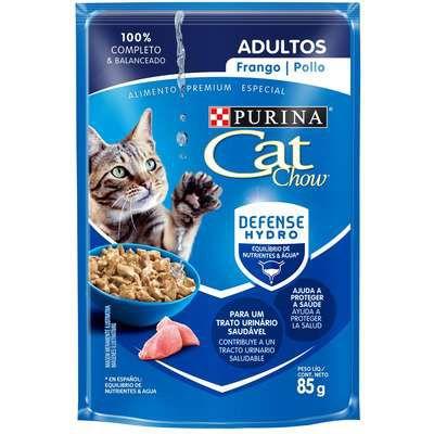 Ração Úmida Nestlé Purina Cat Chow Sachê Adultos Frango ao Molho - 85g