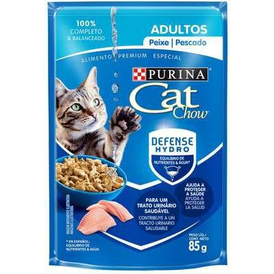 Ração Úmida Nestlé Purina Cat Chow Sachê Adultos Peixe ao Molho - 85g