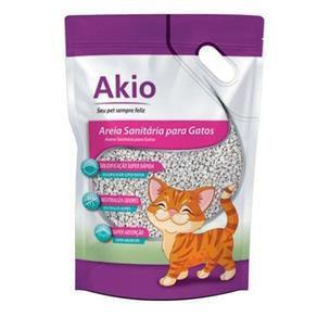 Areia Sanitária Para Gatos Akio - 3Kg