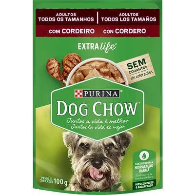 Ração Úmida Dog Chow Sabor Cordeiro para Cães Adultos - 100g