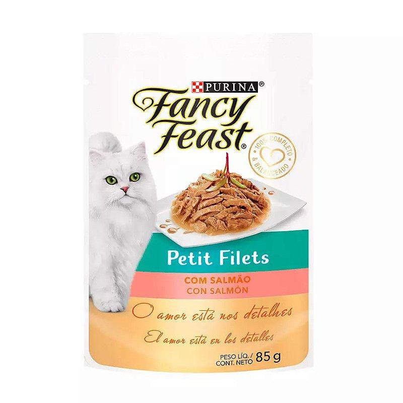 Ração Úmida Fancy Feast Petit Filets para Gatos Sabor Salmão 85g