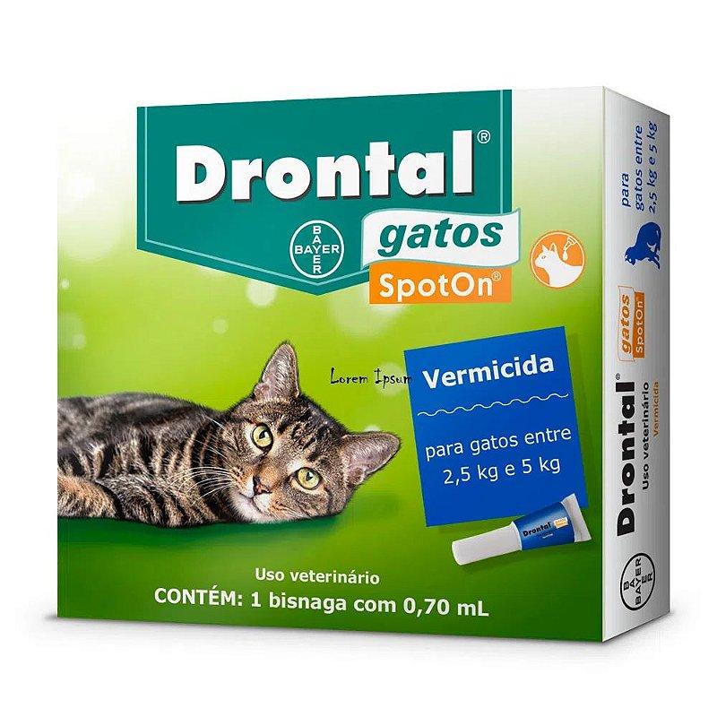 Vermífugo Drontal SpotOn para Gatos de 2,5kg a 5kg