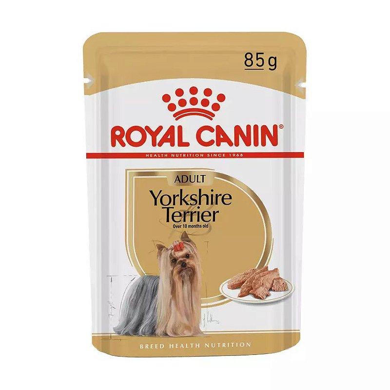 Ração Royal Canin Sachê Breed Health Nutrition Adult Wet para Yorkshire Terrier - 85g