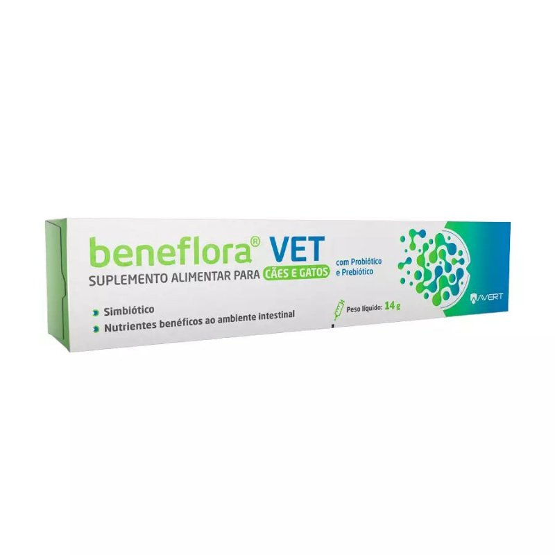 Suplemento Alimentar Avert Beneflora Vet para Cães e Gatos 14g
