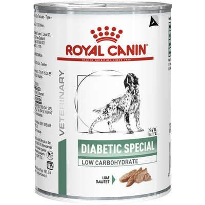 Ração Royal Canin Lata Canine Diabetic Especial Low Carbohidrat Wet - 410 g