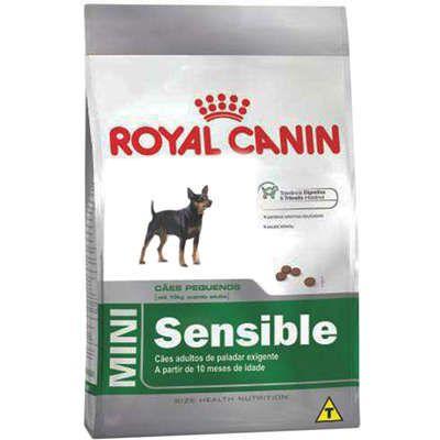 Ração Royal Canin Mini Sensible para Cães Adultos de Raças Pequenas de Paladar Sensível