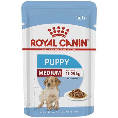 Ração Royal Canin Sachê Size Health Nutrition Puppy Wet para Cães Filhotes Raças Médias - 140g