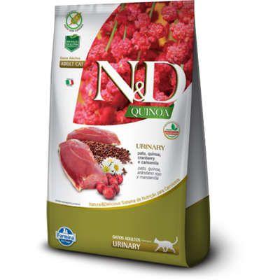 Ração Farmina N&D Quinoa Urinary Pato para Gatos Adultos 7,5kg