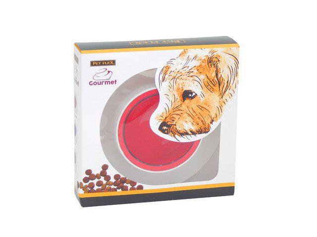 Comedouro/Bebedouro Pet Flex Gourmet - Vermelho