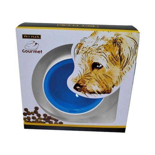 Comedouro/Bebedouro Pet Flex Gourmet - Azul