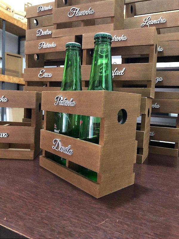 Caixote p/ Padrinhos p/ 2 cervejas (Garrafa Long Neck)