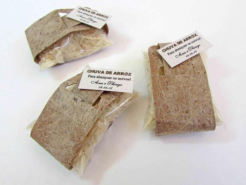 KIT Chuva de arroz saquinho rústico