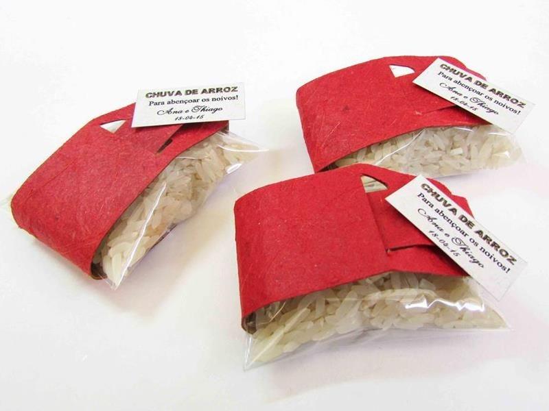 KIT - Chuva de arroz saquinho colorido