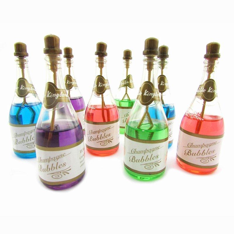 Bolhas de sabão - formato garrafa de champagne
