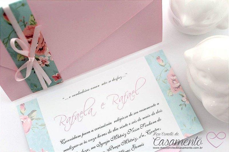 Convite Romântico Vintage (Marfim)