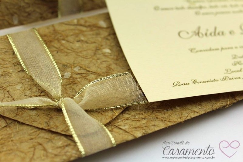 Convite Rústico Diferente (Marfim)
