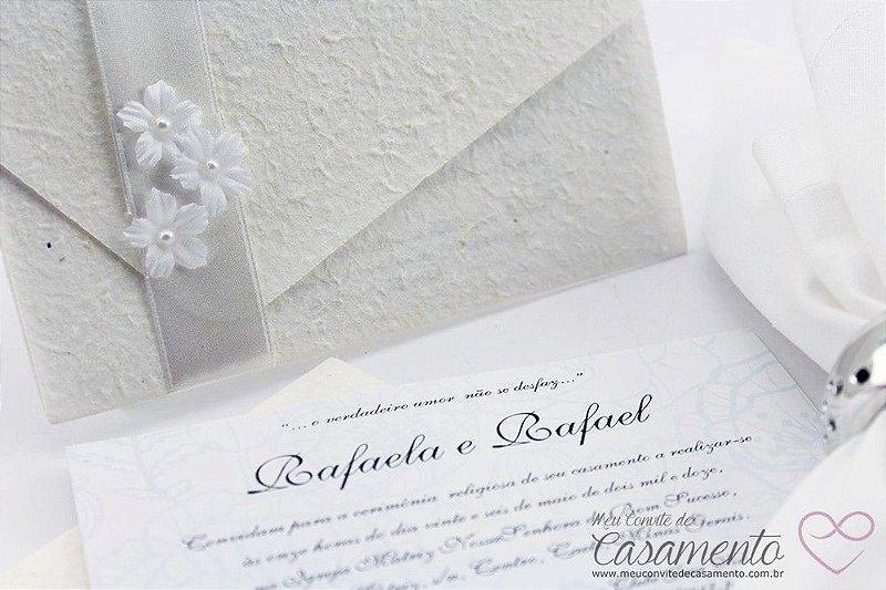 Convite Clássico Flores (Marfim)