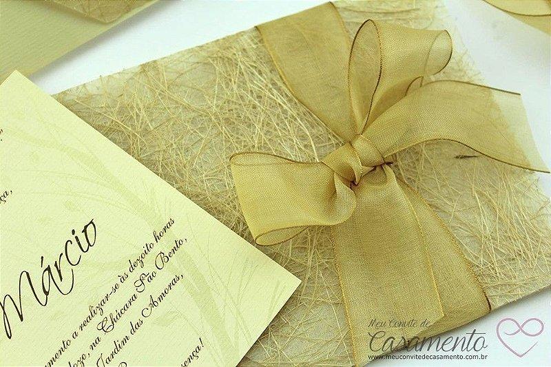 Convite Rústico Luxo (Topázio)