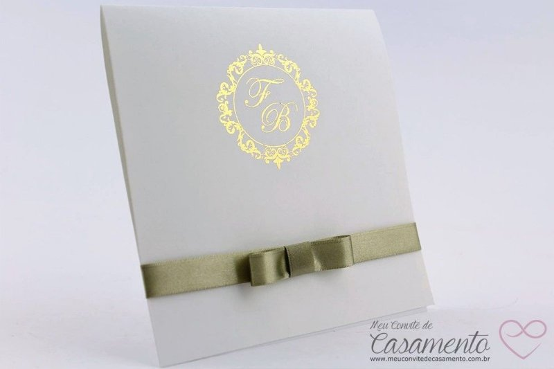 Convite Clássico Monograma (Pepita)