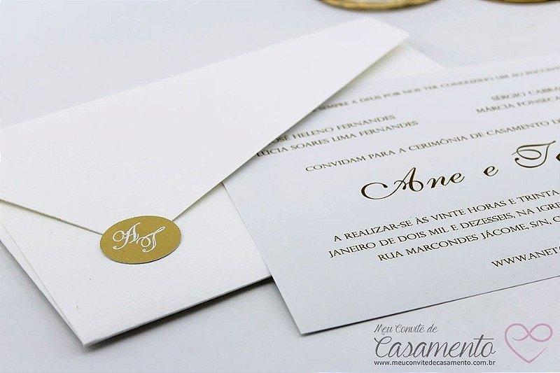 Convite Clássico Monograma (Pectolita)