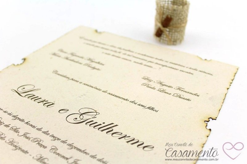 Convite Pergaminho Rústico (Pergaminho)