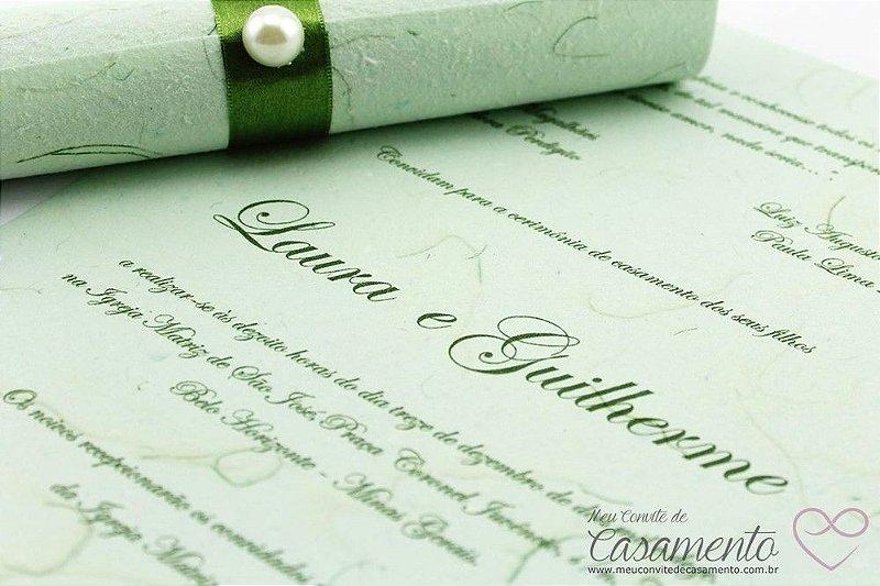 Convite Pergaminho Verde (Pergaminho)