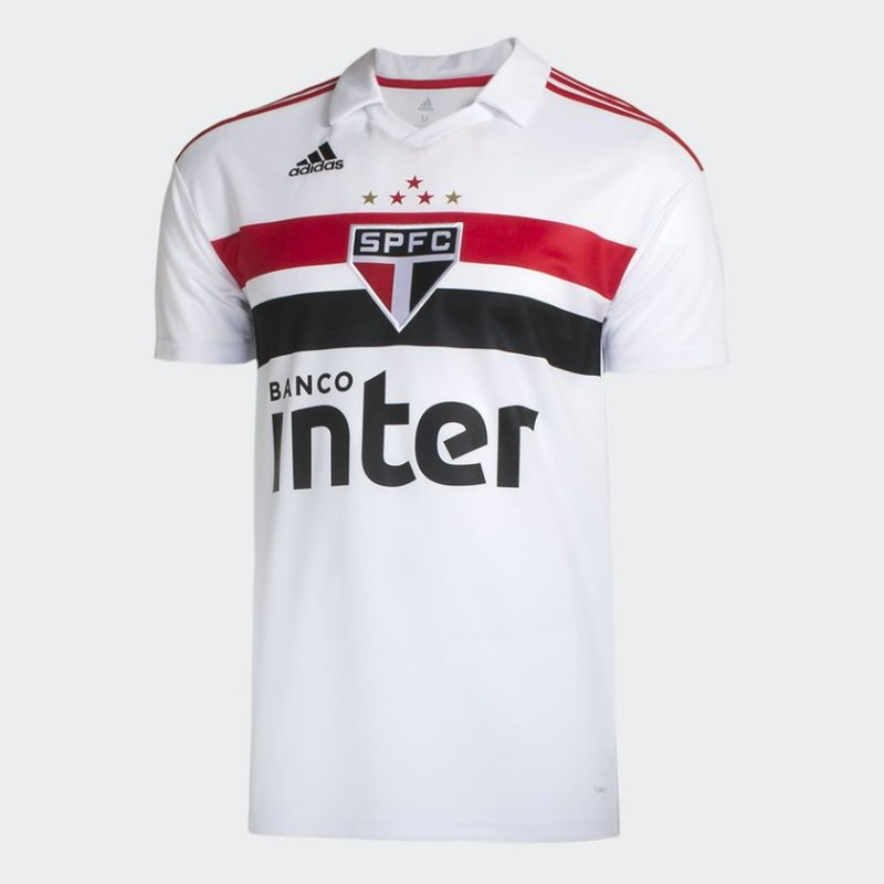 Camisa São Paulo I 2018 Torcedor Adidas Masculina GG Branco Vermelho  Masculino e0e07d0294a55