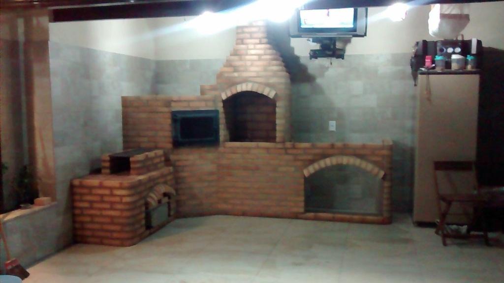 Churrasqueira + Forno Quina e Fogão em L  + Bancada 120cm