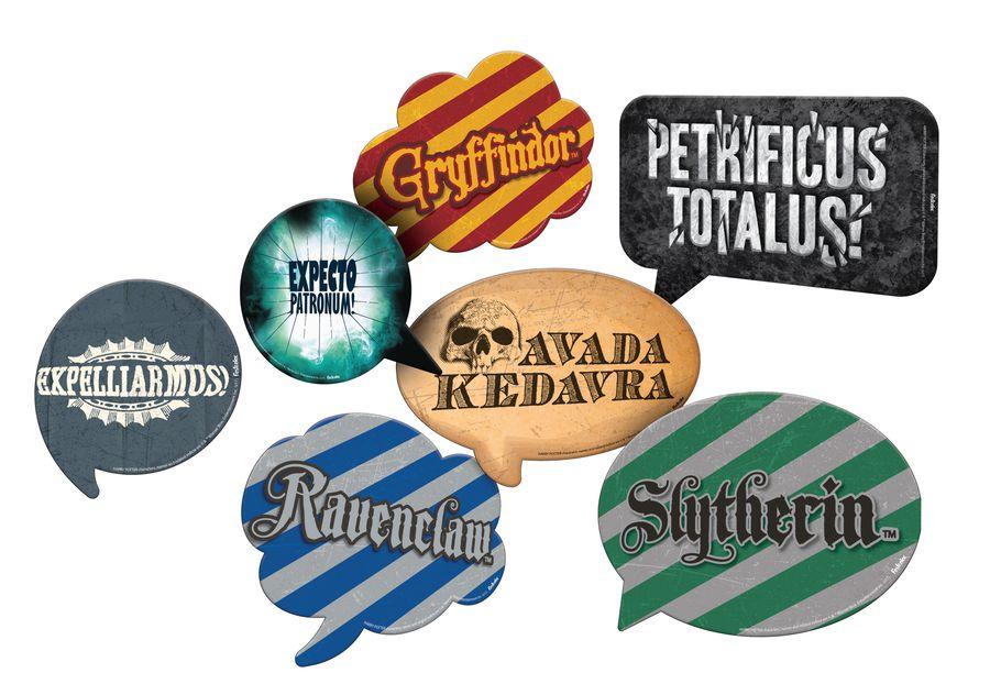 Kit Plaquinhas Divertidas Festa Harry Potter 9 Unidades