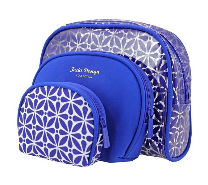 84cd51d24e Jacki Design Kit Necessaire 3 Em 1 Geométrica Cor Azul - DERMAdoctor ...