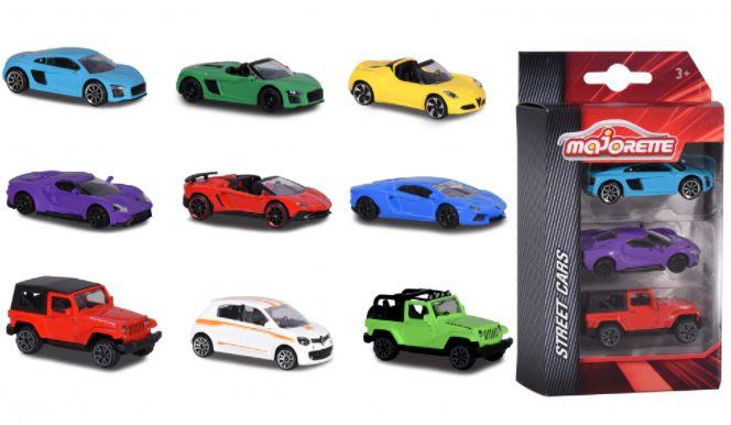 MAJORETTE STREET CARS CONJUNTO COM 3 PEÇAS 1/64