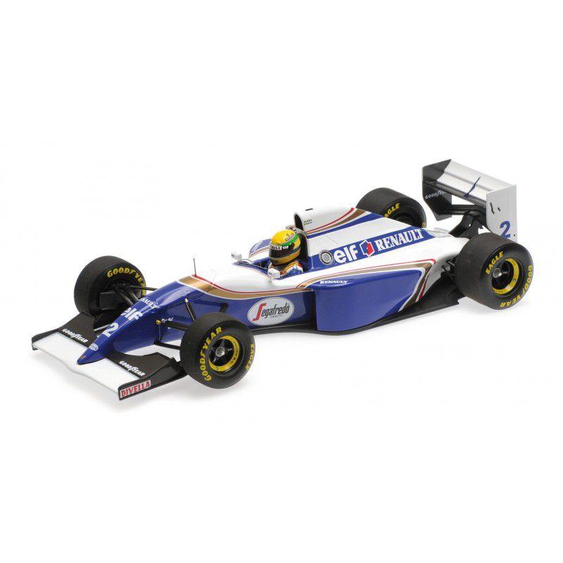 WILLIAMS RENAULT FW16 AYRTON SENNA GP BRASIL 1994 1/18