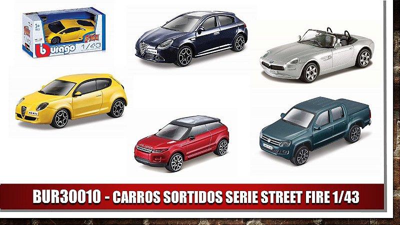 CARROS SORTIDOS SERIE STREET FIRE 1/43