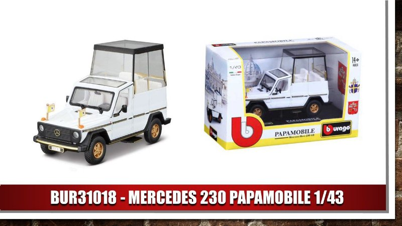 MERCEDES 230  PAPAMOBILE 1/43