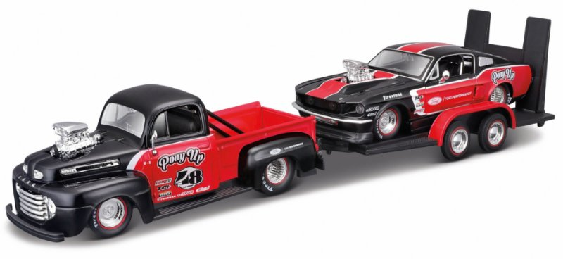 1948 FORD PICKUP F1 + 1967 MUSTANG GT 1/24