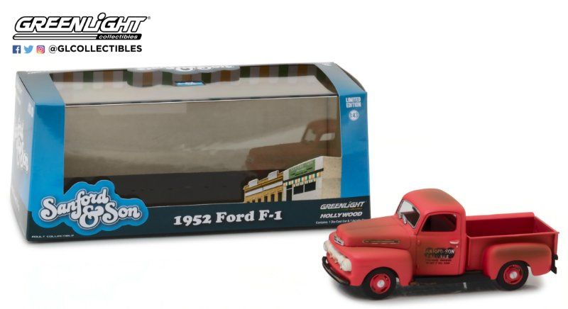 """1952 FORD F-1 TRUCK """"SANFORD AND SON"""" 1/43"""