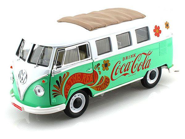 1962 VW KOMBI VERDE COCA COLA 1/18