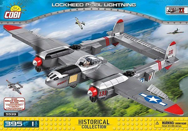 AVIÃO DE CAÇA AMERICANO LOCKHEED P-38 LIGHTNING BLOCOS PARA MONTAR COM 395 PCS