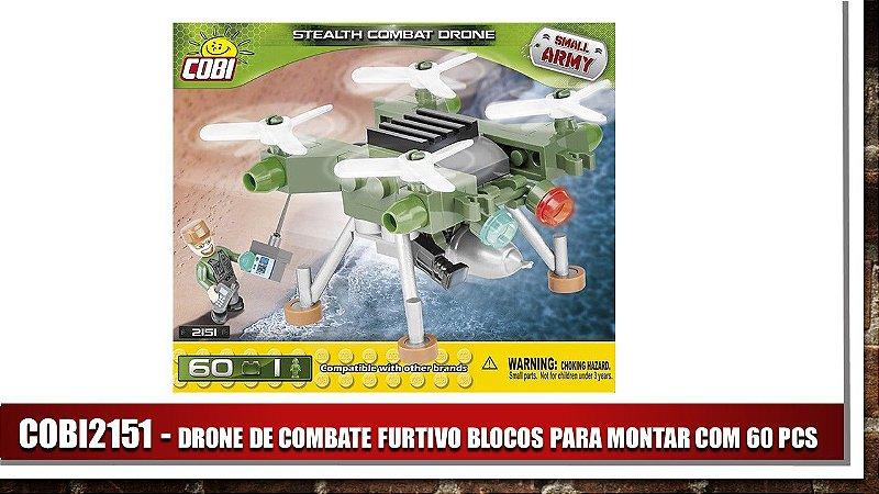 DRONE DE COMBATE  FURTIVO BLOCOS PARA MONTAR COM 60 PCS