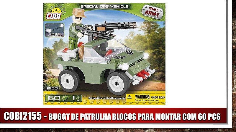BUGGY DE PATRULHA BLOCOS PARA MONTAR COM 60 PCS