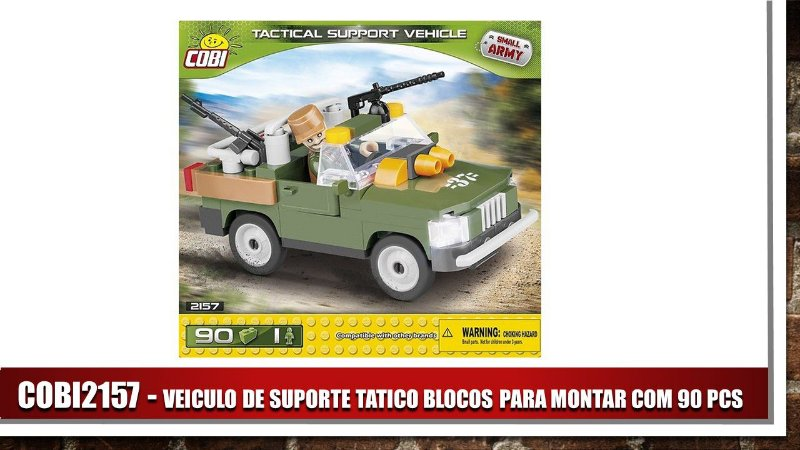 VEICULO DE SUPORTE TATICO BLOCOS PARA MONTAR COM 90 PCS