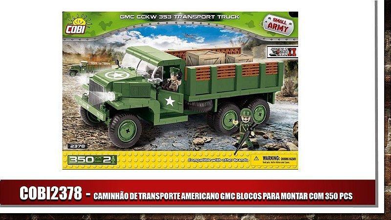 CAMINHÃO DE TRANSPORTE AMERICANO GMC BLOCOS PARA MONTAR COM 345 PCS