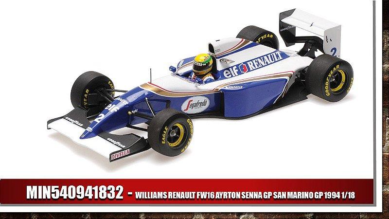 WILLIAMS RENAULT FW16 AYRTON SENNA GP SAN MARINO GP 1994 1/18