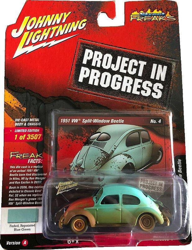 JOHNNY LIGHTNING VW FUSCA AZUL PROJECT IN PROGRESS 1/64