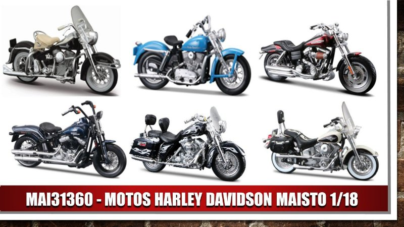 1:18 MOTOS HARLEY DAVIDSON MAISTO