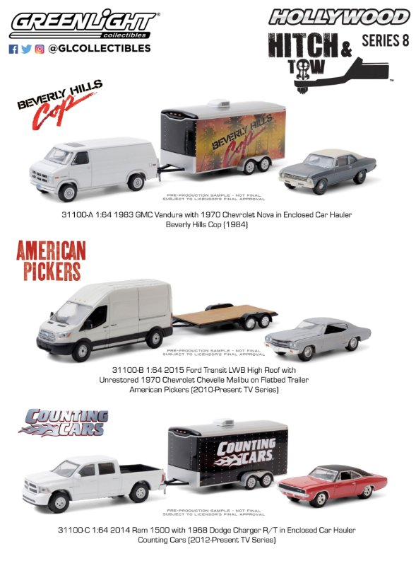 1:64 HOLLYWOOD HITCH & TOW SERIE 8
