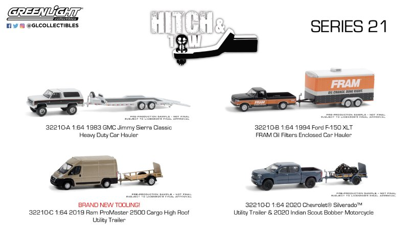 1:64 HITCH & TOW SERIE 21