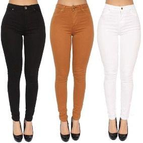 4c4c409d0 Calça Jeans Cintura Alta Com Lycra 38-42 - lojabuypants