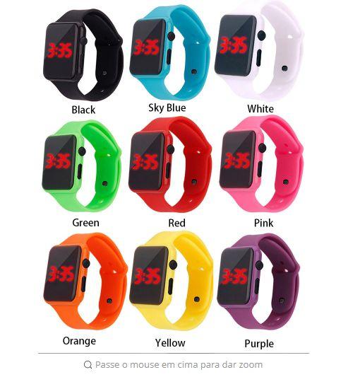 d64101a3bfd Relógio Masculino LEVOU Eletrônico Digital Y501 de LED Várias Cores ...
